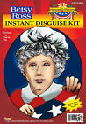 Betsy Ross Wig & Hat Costume Kit Colonial Hat & Wig Kit Martha Washington 55622
