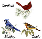 Bluejay Cardinal Oriole Select Bird and Size Waterslide Ceramic Decals Tx image
