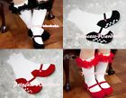 Baby Optional Shoes Printing Petti Sock Stocking with Ruffles 4 Pettiskirt 6m-4Y