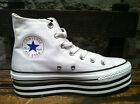 "Converse All Star Chuck Taylor Platform ""Layer Bottom"" White Women HI Shoes NIB"