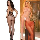 Plus Size Lingerie One Sz Queen Black Red or White Fishnet Bodystocking  EM1611Q