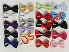 Boys Bow Tie Bowtie Formal Tuxedo Suit Shirt  21 Colors Poly Silk Small & Large