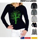 TREE with hidden things Hobo designs long sleeve Funny t-shirts top retro PRINT