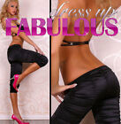 NEW SEXY WOMEN'S 3/4 CAPRI PANTS SIZE 6-8-10-12 LADIES TIGHTS CASUAL WEAR BLACK