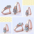40pc Rose Gold Plated Crystal Flower Pendant Pinch Bail 14mm BC114