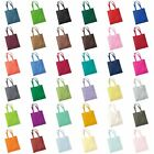 NEW COTTON SHOULDER TOTE SHOPPING BAGS LIGHT CANVAS SHOULDER STRAP 30 COLOURS