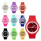Round silicone/rubber/jelly wrist sport watches bracelet for men/women/kids
