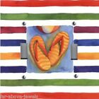 Light Switch Plate Switchplate & Outlet Covers BEACH FLIP FLOPS COLORFUL STRIPES