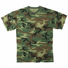 Moisture Wicking Army Camo Tee Woodland CamouflageT-Shirt - FREE SHIPPING