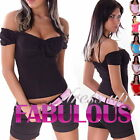 NEW SEXY WOMENS LADIES TOP Size 6-8-10 S/M PARTY CASUAL WEAR BLACK RED PINK BLUE