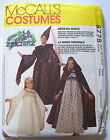 PATTERN McCALLS Princess Medieval Maiden Cape Dress Hats Sz S to M Costume 6775