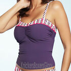 Fantasie Swimwear Dublin Underwired Tankini Top Plum 5450 NEW Select Size