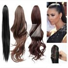 "Claw Clip In Ponytail Hair Extension New  22"" 20"" 18"" Hairpiece Straight Wavy"