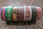 Japanese Washi Masking Craft Deco Tape 15m Choice of 7 Designs Christmas Postage