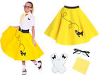 4 pc 50's POODLE SKIRT 7/8/9 Medium CHILD - You Choose