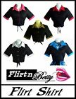 50s 60s Rockabilly PinUp Top Flirt Shirt Pin Up Tie-Up Vintage Style Blouse New