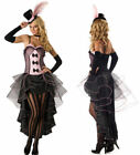 Burlesque Moulin Rouge Fancy Dress Costume Can Can Girl Dance Outfit Hat