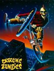 3196 EXTREME ZOMBIES BMX BIKE FUN WALL ART FANTASY METAL WALL SIGN BRAND NEW