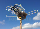 HDTV Outdoor Amplified Antenna HD TV 36dB Rotor Remote 360° UHF VHF FM 150 Miles