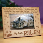 Personalized Cat In Heaven Memorial Picture Frame Engraved Pet Memorial Frame