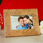 Personalized Couples Picture Frame Hearts & Love Valentines Photo Frame 3 Sizes