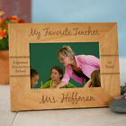 Personalized Teacher Picture Frame Engraved Wood Photo Frame Teacher Gift 3 Size