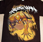 Spider Man Web Scrawler CHOCOLATE Youth T-shirt