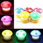 New Korean Fashion Lovely Mushroom Clap Lamp Small Night Light Berth Lamp Bulbs