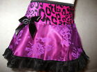 NEW Girls Black,Cerise Pink,Leopard,lace frilly Party Skirt,Gift,Goth,Hippy,Rock