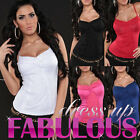 SEXY WOMEN'S TOP SIZE 6-8-10 HOT LADIES LACE SINGLET CASUAL CLUBBING SUMMER WEAR