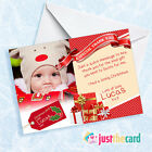 8 Personalised kids Christmas Present Thank You Photo cards