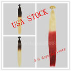 "USA STOCK!balayage/ombre remy 20"" stick tip hair extensions,3-5 days delivery"