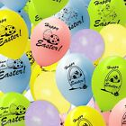 Happy Easter Blue Yellow Pink Printed Latex Party Balloons ALL in One Listing