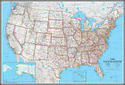 United States US-USA Wall Map Poster Classic Blue Edition by Swiftmaps