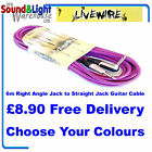 Livewire 6M Right Angled Jack To Straight Jack Guitar Lead - Instrument Cable