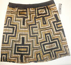 Worthington Ladies Black and Beige Geo Dress Skirt Sizes 8, 14