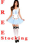 Alice in Wonderland Ladies Fancy Dress Costume XS S M L