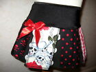 New Baby Girls Black,red,cream skulls,check,spots Skirt,Goth,rock,gift