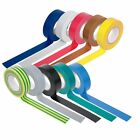 Coloured PVC Tape 20M x 19mm for Electrical Insulation / Sports Racket & Socks