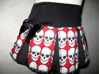 New Gothic,Punk,Rock,Black,White,Red Skull cheerleader Skirt-All sizes**