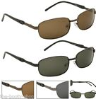 NEW POLARIZED SUNGLASSES MENS LADIES BLACK RETRO VINTAGE METAL AVIATOR DRIVING