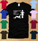 INTERNATIONAL SYMBOL FOR MARRIAGE MENS T-SHIRT SMALL funny offensive gift tee S