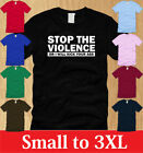 STOP THE VIOLENCE LADIES T-SHIRT S M L XL funny mma karate offensive WOMEN tee