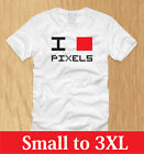 I BLOCK PIXELS - LADIES SHIRT S M L XL funny old school love nerdy WOMEN tee