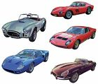 5 Car Cars Cobra Ferarri GT40 Jaguar Lamborghini Waterslide Ceramic Decals Bx image