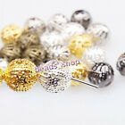 5 Colors Mixed New Spacer Beads Charms Iron Round For Jewelry Making 8mm