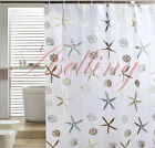 Classic Sea Shell Starfish EVA Bathroom Waterproof Mildew Proof Shower Curtain