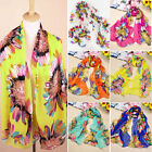 Women Ladies Sun Flower Print Shawl Scarf Long Stole Wrap