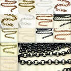 4-20m Antique Silver/Gold Rollo Chains F Bracelet Metal Chains Jewellery Making