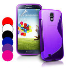 S Line Wave Gel Case Cover For Samsung Galaxy S4 IV i9500+ Screen Protector